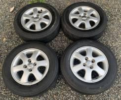 """Колеса 175/65 R14 Dunlop на литье Toyota R14 4*100 из Японии. 6.0x14"""" 4x100.00 ET45 ЦО 54,1мм."""