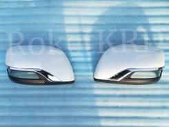 Накладки зеркал белые Executive Toyota Land Cruiser 200