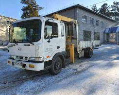 Hyundai Mega Truck. Продам Hyundai MEGA Truck грузовой, бортовой с манипулятором, 7 545куб. см., 5 000кг.