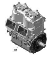 Блок двигателя ДЛЯ BRP LYNX/SKI-DOO Rotax 800R E-TEC