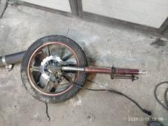 Вилка с траверсой диском и шиной с китайского мотоцикла комплект