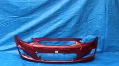 Бампер Hyundai Solaris 10 - 14 г. в. Красный гранат TDY в цвет кузова