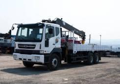 Daewoo Novus. 15.5 тонн HIAB 190 (7тонн) - 2019 года, 10 964куб. см., 15 500кг., 6x4