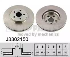 Диск тормозной, передний J3302150 Nipparts Toyota Avensis 2.0 D-4D/2.4