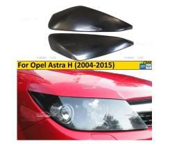 Реснички на фары для Opel Astra H 2005-2015 широкие