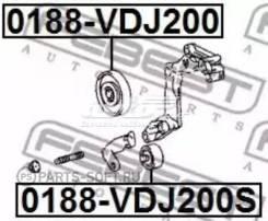 Обводной ролик. Lexus LX450d, VDJ201 Lexus LX570, VDJ201 Toyota Land Cruiser, VDJ200 1VDFTV
