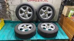 """Оригинальные диски Subaru на летней резине Bridgestone 215/60R16. 6.5x16"""" 5x100.00 ET48 ЦО 56,1мм."""