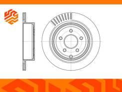 Диск тормозной. Infiniti: FX30d, M25, QX70, M37, QX60, M45, FX50, M56, M35, Q50, Q70, Q60, G37, FX45, FX35, JX35, FX37 Nissan: Presage, Elgrand, Muran...