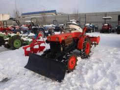 Kubota. Трактор 14л. с., 4wd, фреза, отвал , 14 л.с.