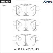 Дисковые тормозные колодки Advics SN953P (R) Toyota