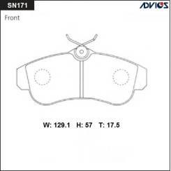 Дисковые тормозные колодки Advics SN171 Nissan