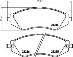 Колодки тормозные дисковые передн. AVEO Hatchback (T200) AVEO Saloon (T200) Lacetti (J200) Lacetti NP6028