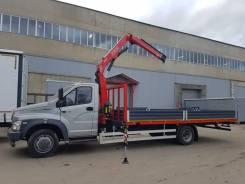 ГАЗ ГАЗон Next C41R33. Бортовой Газон Некст с манипулятором КМУ Fassi F65B.0.22, 4 430куб. см., 5 000кг., 4x2