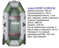 Инзер 2 НД. 2020 год, длина 2,80м., двигатель без двигателя