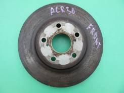 Диск тормозной передний Toyota Estima ACR30/ACR40/AHR10,2AZFE/1MZFE