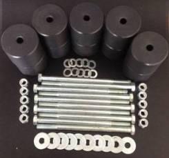 Боди лифт комплект 80 мм УАЗ-452 Буханка капролон (d=60 мм) с креп. (8 б-ов М10х160 + 2 б. М12х200) чёрн. цвет