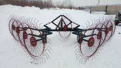 Грабли ворошилки валковые ГВВ - 6.1 (со средним колесом) 9 колес