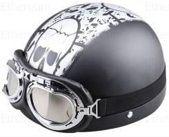 Мото шлем с очками