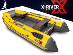 Надувная лодка X-River Agent 390 НД, просторная и быстрая, пр-во Россия