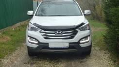 Дефлектор капота SIM (мухобойка) Hyundai (Grand) Santa Fe 2012-2019