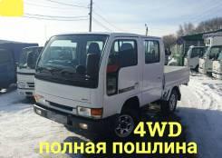 Nissan Atlas. 4WD, двухкабинник + борт 1,5 тонны, 3 200куб. см., 1 500кг., 4x4