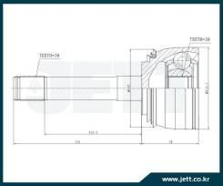 ШРУС внешний JETT V41-9085