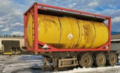 Тонар 974624. Продается п/прицеп контейнеровоз 20фут тонар 974624 с танк-контейнером, 30 000кг.