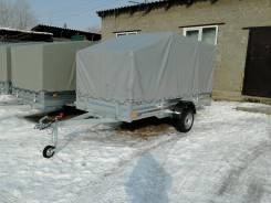 Прицеп Спутник Снежик кузов 1,5*3,5 м с тентом толщина борта 1,5 мм