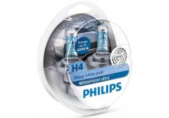 Лампа H4 12-60+55 P43t White Vision Ultra Philips