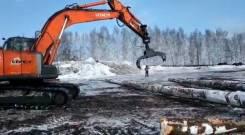 Захват лесной гидравлический на экскаваторы Hyundai, Hitachi, Doosan