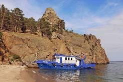 Аренда комфортабельного катера для отдыха на озере Байкал. 10 человек, 13км/ч