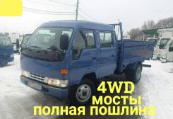 Toyota Dyna. 4WD, двухкабинник + борт 4 тонны, 4 100куб. см., 4 000кг., 4x4