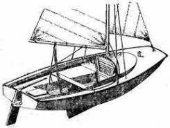 Парусная яхта 4,7 м. Длина 4,70м., 2012 год