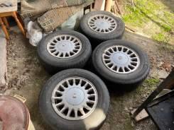 """Комплект японских колес для рамных Toyota Crown с резиной 205/70R15. 6.5x15"""" 5x114.30 ET15 ЦО 67,1мм."""