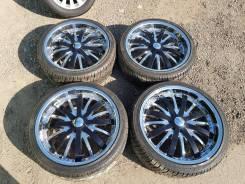 Нереальные колеса Giovanna 5x115 R22 зеркальный хром + шины Nexen