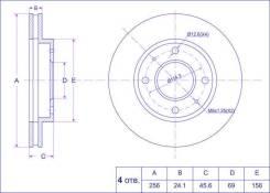 Диск тормозной MR389722 *Ti•GUAR Ti-Guar [TGMR389722], передний
