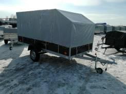 Прицеп Снегоход кузов 1,5*3,5 м с тентом, самосвальный