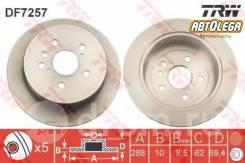 Диск тормозной зад. TRW Toyota Harrier ACU/MCU3# , Lexus RX, Kluger