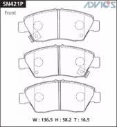Колодки тормозные передние дисковые Advics SN421P