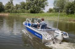 """Лодка моторная Салют-430 в комплектации """"Scout"""", Тр380 с проходом"""