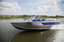 Моторная лодка Салют-430 Scout тр380 с палубой-крышкой