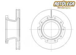 Диск тормозной задний G-brake Hyundai/Kia. HD59/HD60/HD65/HD72