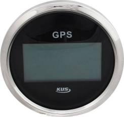 GPS-спидометр электронный, черный циферблат, нержавеющий ободок