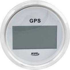 GPS-спидометр электронный, белый циферблат, нержавеющий ободок