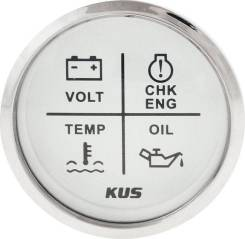 Указатель аварийной сигнализации двигателя, белый циферблат
