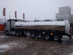 Foxtank. Полуприцеп-цистерна пищевая молоковоз 27м3 4 оси