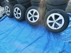 Комплект колес лето 195/65 R15 на литье 5x100 + колпаки 4шт №4529