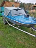 Обь-3. 2005 год, длина 4,20м., двигатель стационарный, 74,00л.с., бензин