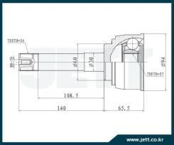 ШРУС внешний JETT V41-9045