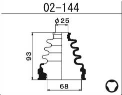 Пыльник ШРУСа внутреннего Maruichi 02144